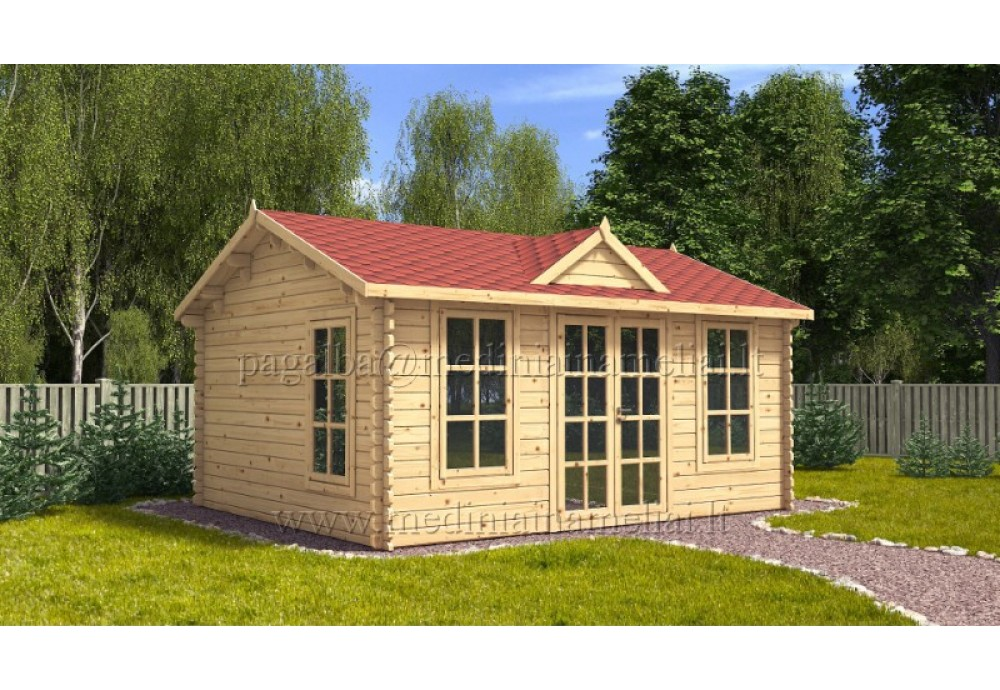 Sodo namelis CLOCKHOUSE 5x4m (20m²), 44mm