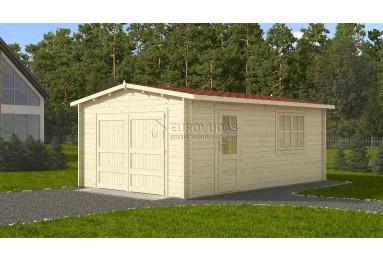 GREITAS PRISTATYMAS! Medinis garažas 4x6m, 44 mm