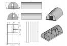 Medinis kempingo namelis POD 4x7m (22m²), 44mm
